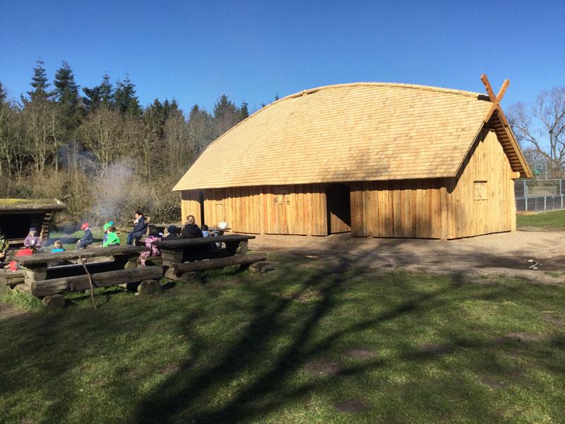 Vikingehuset fra siden