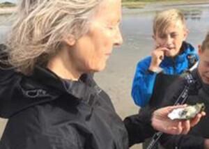 Lærer med østers